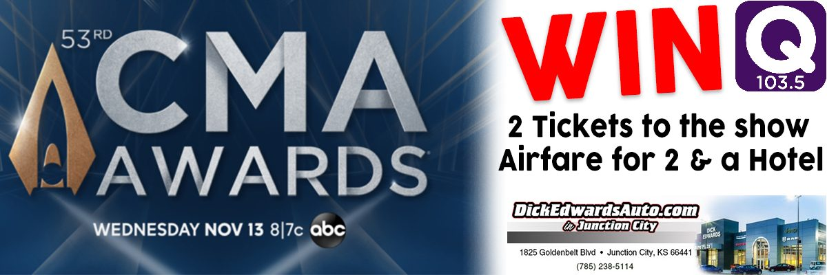 The QCountry 103.5 CMA Flyaway to the 53rd Annual CMA Awards in Nashville presented by Dick Edwards Auto Plaza!